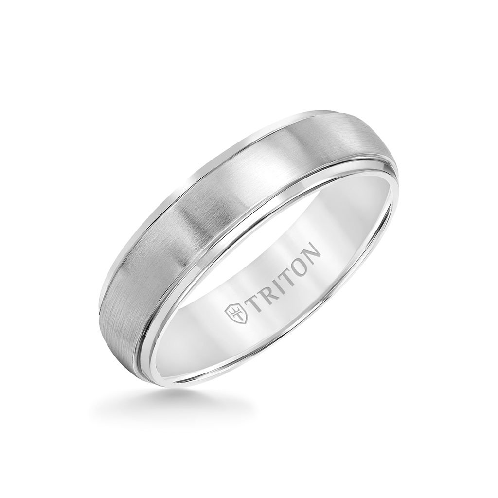 It is an image of Triton Titanium Half Round Raised Center 41mm Band