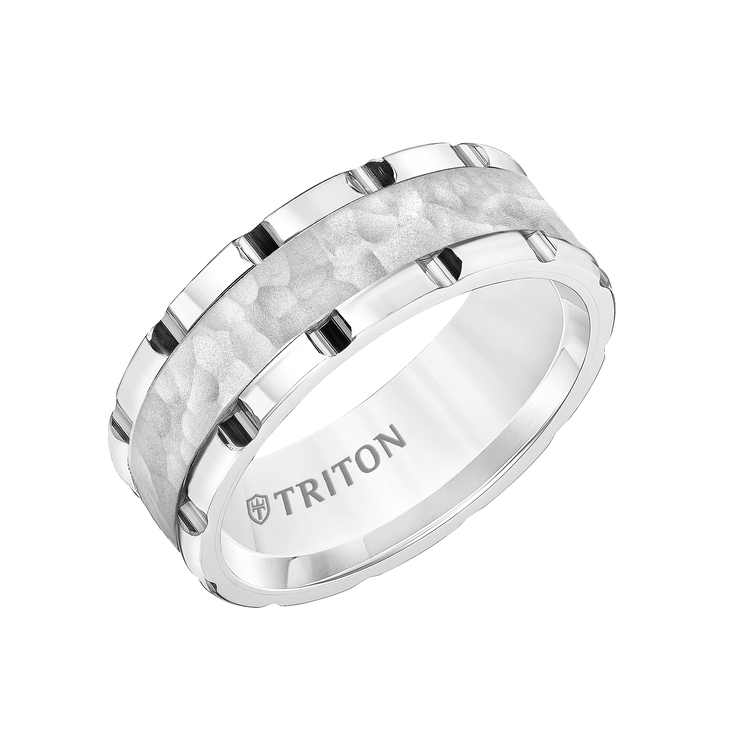 black sapphire tungsten rings band white triton mens wedding in