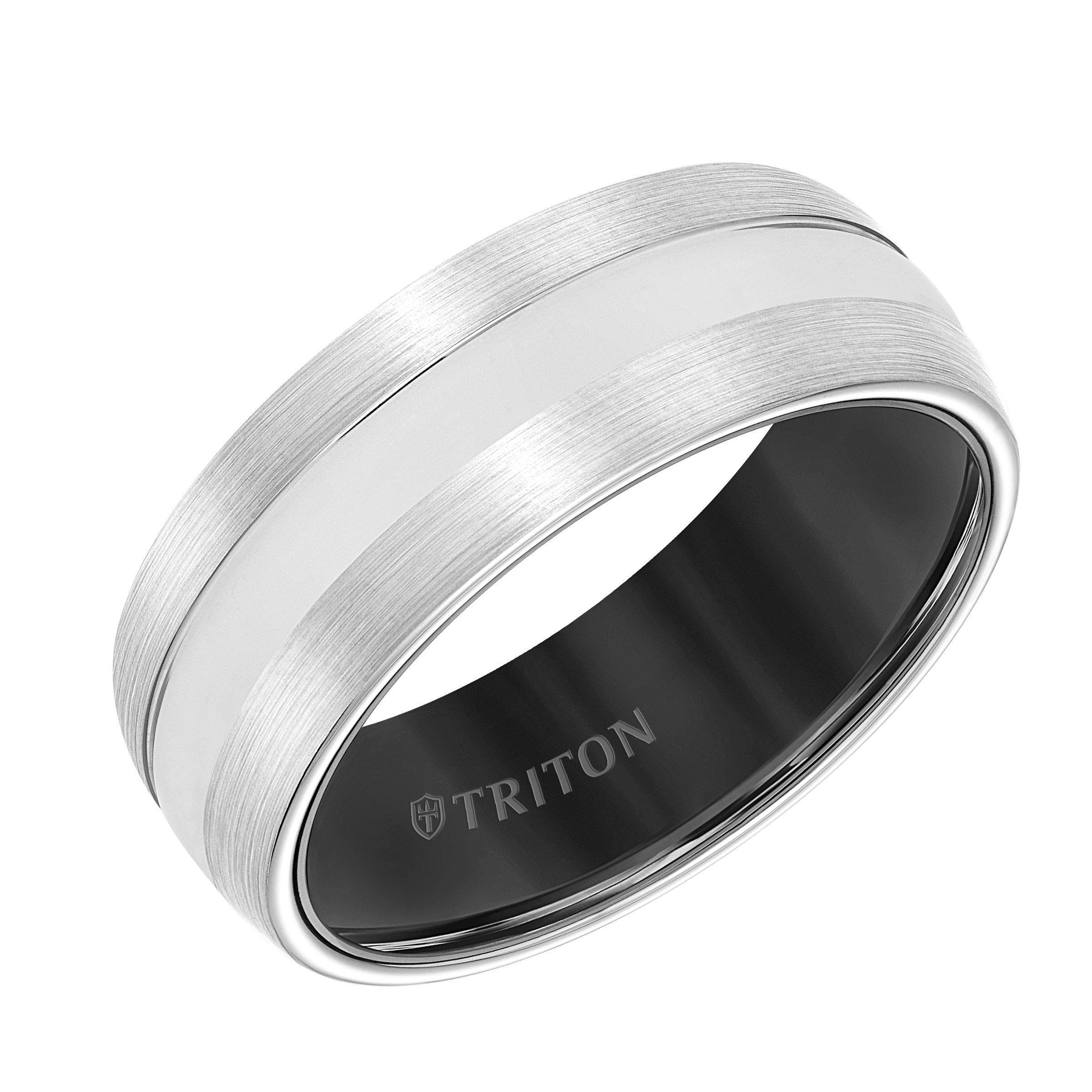gold set tension titanium triton wedding ring white rings with diamond black