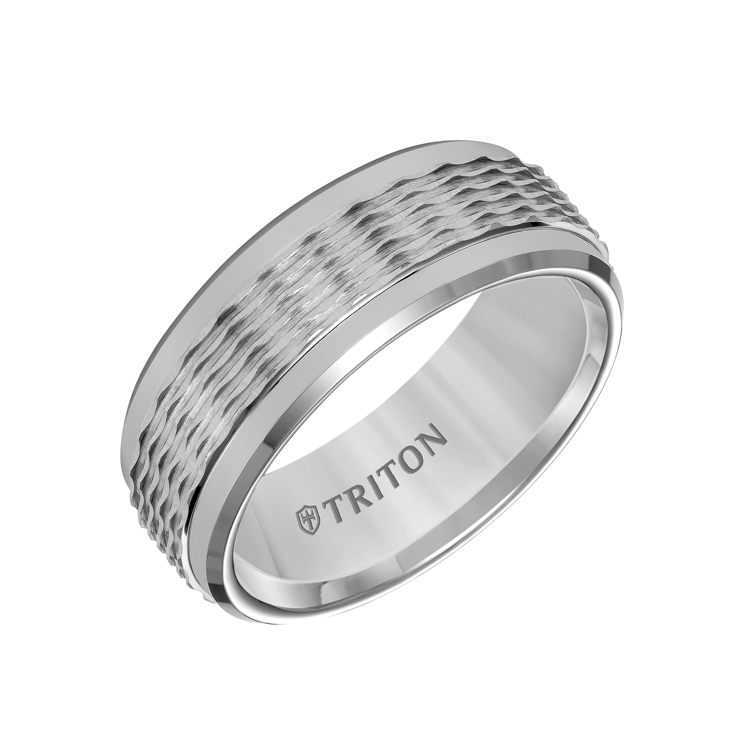 cobalt matte triton loading ring tone wedding chrome band xf center finish rings zoom two